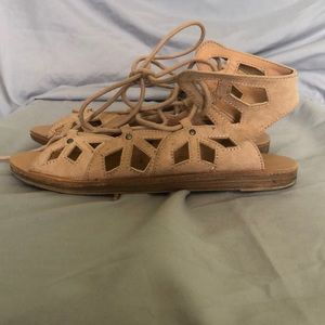Mossimo Supply Co. Shoes - ⚡️2 for $6 FLASH SALE⚡️ Tan-Blush Lace-Up Sandal